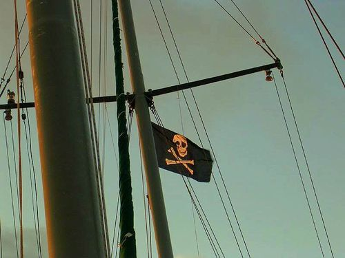 Pirate flag flying-1