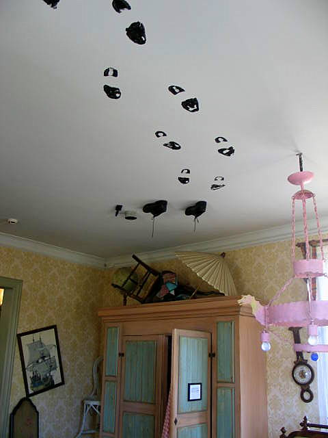 Footprints On The Ceiling My Eldest Daughter Actually Did This When She Was Younger I Kept Asking Her How Got