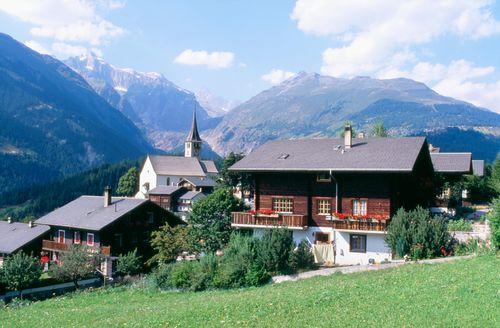 Swiss alp chalets
