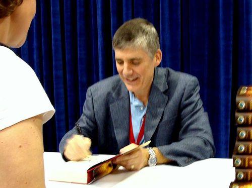 Rick riordan signing at BEA